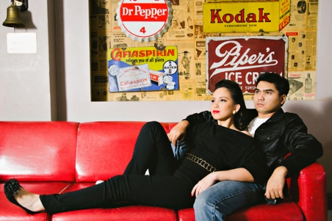 Rainbowfish Vintage 50's Cafe Cebu Engagement Hollywood Theme Prenup Pictorials 3
