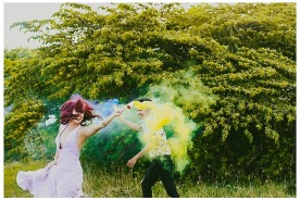 Smoke Bomb Engagement Sparklers Colorful Tattoo Philippines Bride_0082