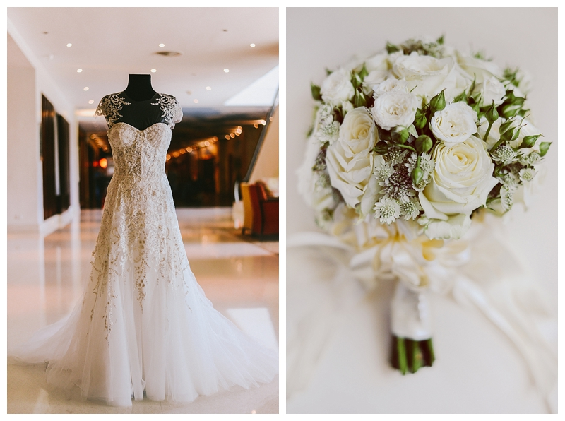 Andre Carmen Lhuillier Elegant Classic White Royal Blue Monique Lhuillier Dress Waterfront Hotel Cebu_0004